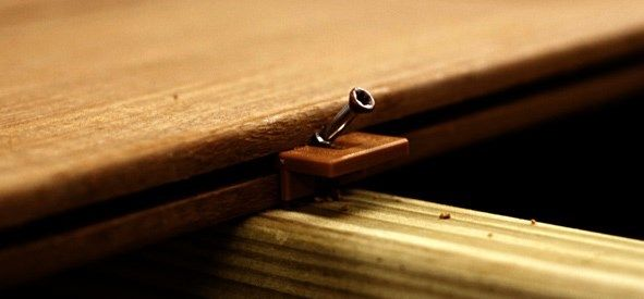 There are a variety of hidden fastener systems available for use to install decking.
