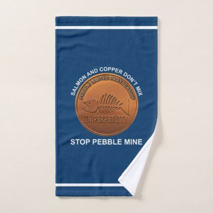 Stop Pebble Mine - Pebble Mine Penny Hand Towel - animal gift ideas animals and pets diy customize