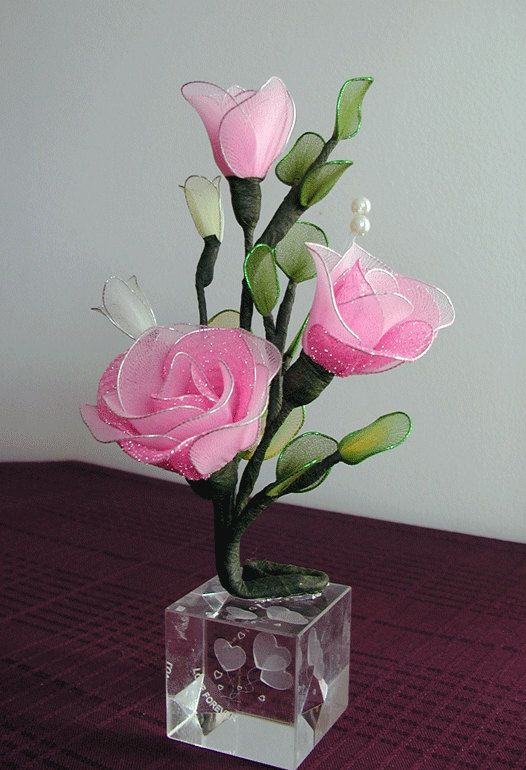 Handmade small Roses Arrangement by LiYunFlora on Etsy, $20.00