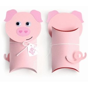 Silhouette Design Store - View Design #74582: pig pillow box valentine