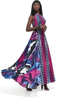 African Print Maxi Dress Photo Album - Reikian