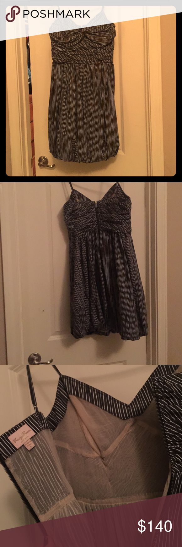 Anthropology dress worn once size 8... Tracey Reese New York . Excellent condition . Pinstripe deep blue and white Tracy Reese Dresses Mini