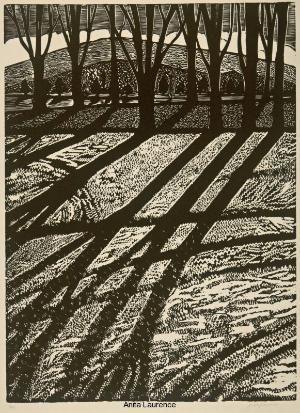 'Winter I' by Australian artist & printmaker Anita Laurence (b.1963). Linocut by letha
