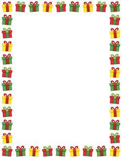 Frontera de la Navidad Presente