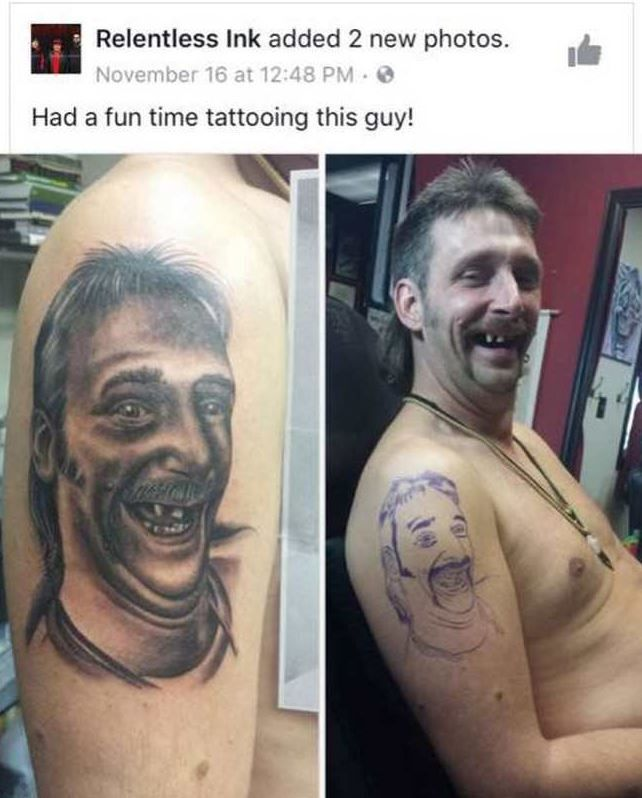 Funny Memes Of The Day 34 Pics Funoramic Tattoo Memes Funny Tattoos Terrible Tattoos