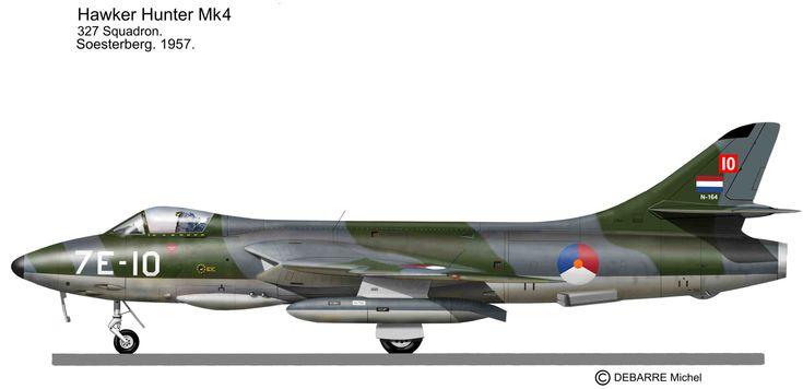 Le Hawker Hunter était un jet élégant aussi bien en vol qu'au sol. Les nombreuses forces aériennes l'ont utilisé avec de belles décorations et de beaux camouflages. Cette série de profils sera longue et colorée!