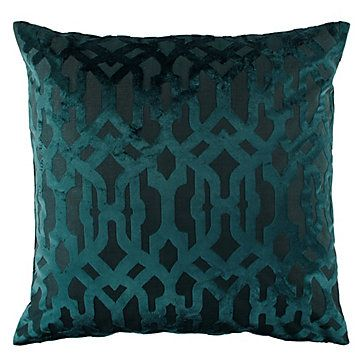 This rich teal pillow pairs perfectly with our favorite decor color for Fall - Burgundy!
