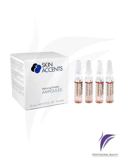 Complejo Hidratante Caja x25 Ampolletas de 2ml: El complejo hidratante son sustancias activas concentradas que regenera y aporta una alta hidratación y humectación a la piel. Recomendado para pieles secas y deshidratadas.