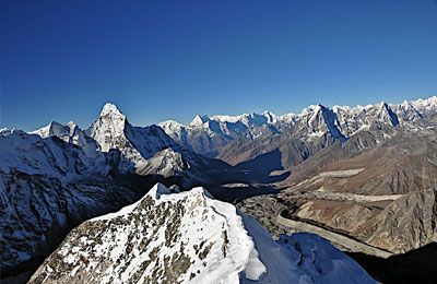 Team Himalaya introduces a famous trekking peak probably in whole Himalaya region the trek and climb of Island Peak also called as Imjatse Peak as this peak is located in the midst of great scenic Imjatse valley of Khumbu area. Island & Imjatse Peak stands high at 6,189 m / 20,305ft the top of the summit offers mind blowing panorama of world's highest peak Mt. Everest 8,848 m, Mt. Lhotse 8,516m, Mt. Makalu 8,463 m and number of beautiful adjoining peaks including the majestic Ama Dablam…