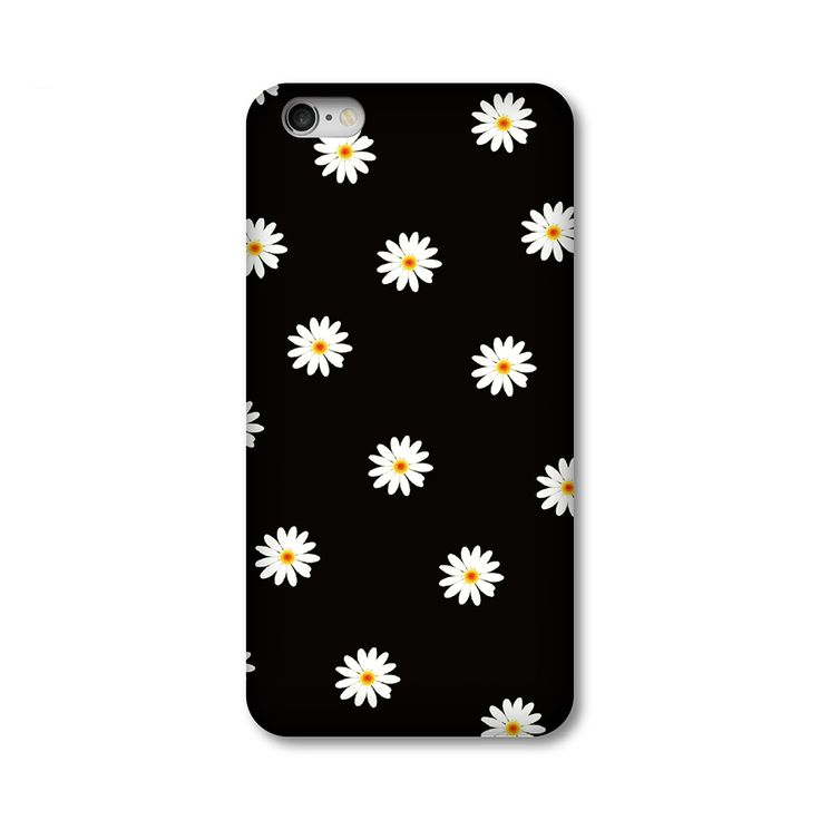 2016 New Original Chrysanthemum plant printing all-inclusive border fell slim hard plastic Phone bag case for iPhone 5S 6 6SPlus