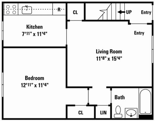 Best One Bedroom Floor Plan 500Sq Ft Attic Bungalow Designs 640 x 480
