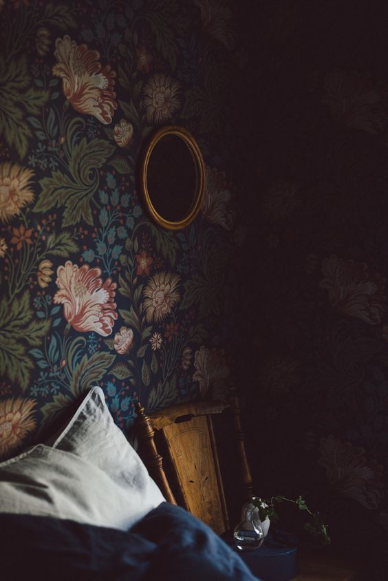 La Maison Boheme | dark moody room | wallpaper