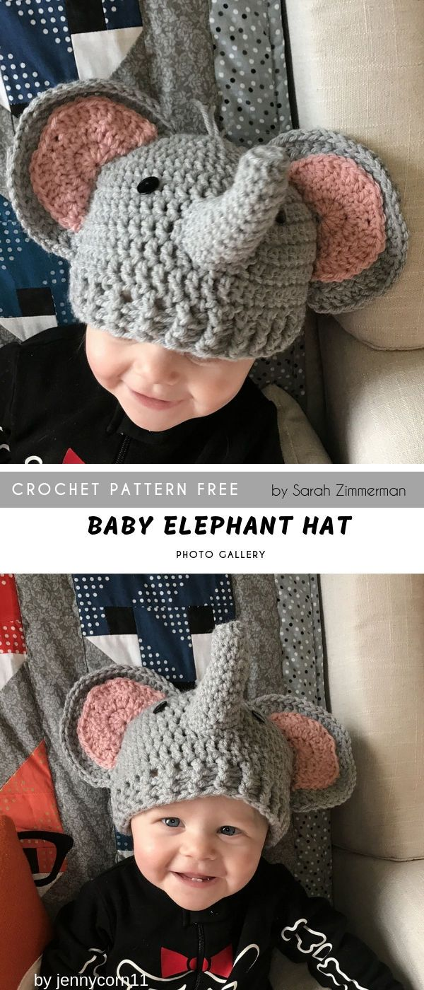 Amazon.com: Crochet Baby Elephant Hat and Diaper Cover Set - Baby ... | 1400x600