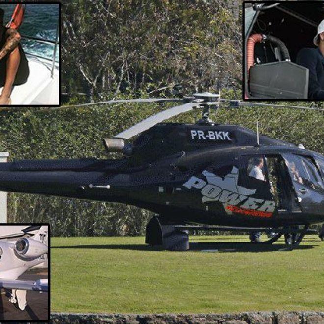 Elicottero E Aereo : Sequestrato elicottero e yacht a neymar no aereo