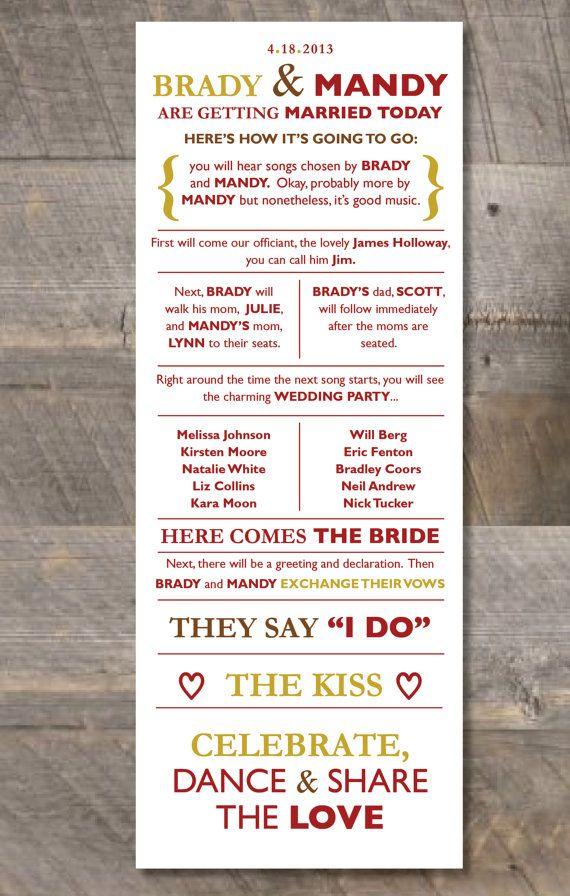 13 best Wedding Programs images on Pinterest Wedding program - baby shower program template