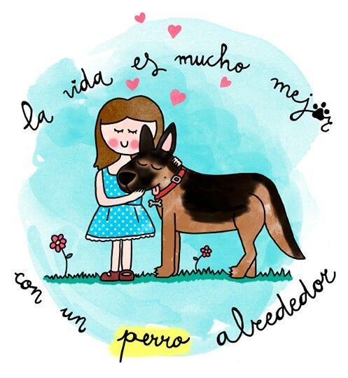 """""""La vida es mucho mejor con un Perro a tu Lado"""". #EstrechaSuPata #NoAlMaltratoAnimal"""