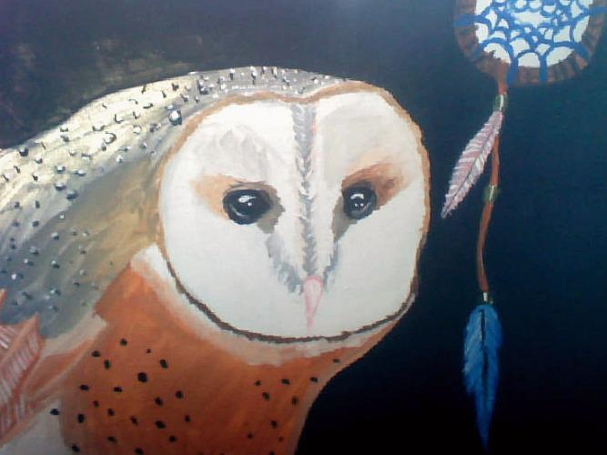 owl from Huee Chou: Owl Paintings, Owl Close Up, Owl Upclo