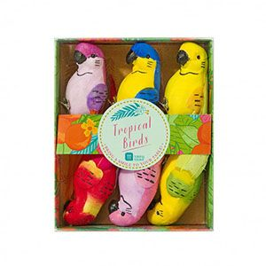 Tropikal Kuş Süslemeleri - Doğum Günü Süsleri   Nice Yaşlara