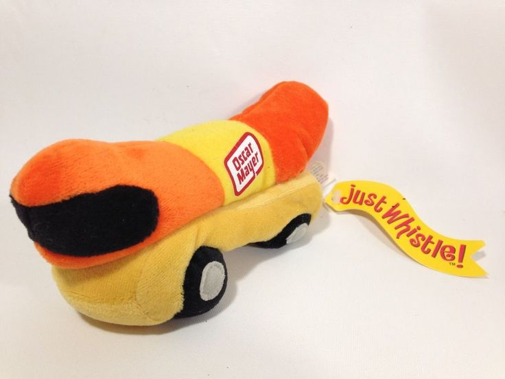 "Oscar Mayer Plush Hot Dog Weiner Mobile Bean Bag Just Whistle Kraft Foods 7""  #Kraft"