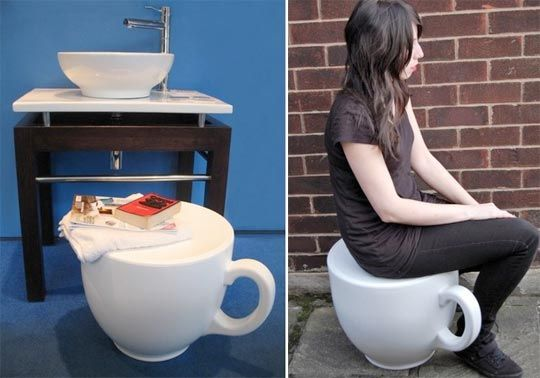 funny, tea cup stool from Holly Palmers  @Beth J Longar you need this!