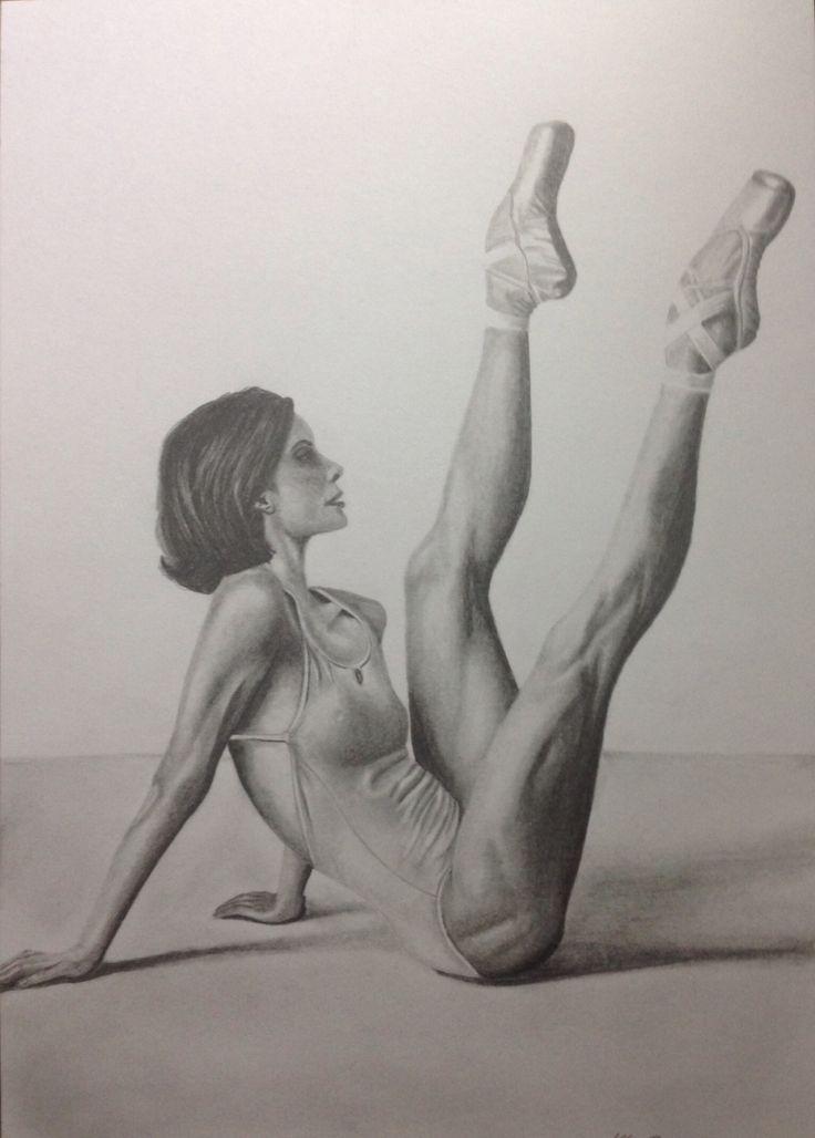 Ballerina- drawing, dorottyaart.com