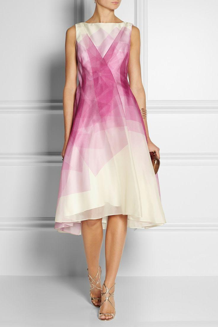 Lela Rose|Printed silk-organza dress|NET-A-PORTER.COM