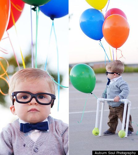 to do: adorable baby halloween costumes. hello carl from up!