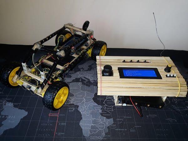 Arduino Car with Sonic sensor and Radio control Remote