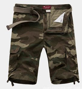 Men Camouflage Shorts, Military Shorts, Big Size 30-44