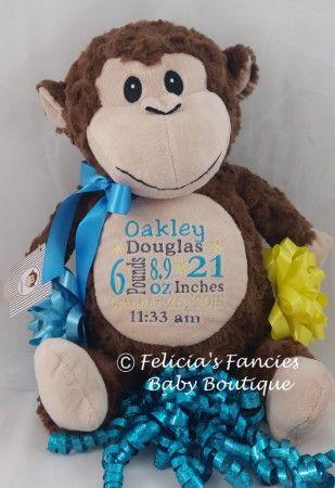 Stuffed Monkey Newborn Baby Gifts For Boys And Girls Monkey