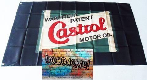 Castrol Motor Oil Banner Flag