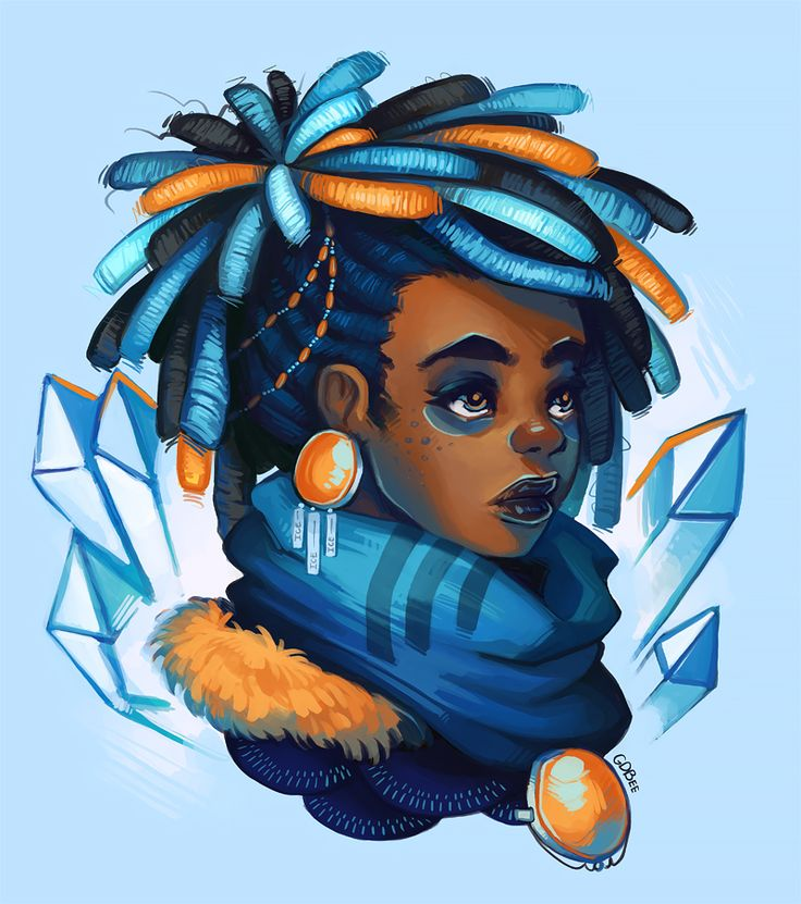 prinnay:  Wanted to draw a neat dreadlocks hairstyle, is all :)Progress video here: https://www.youtube.com/watch?v=64X8f6bLtzs&feature=youtu.be