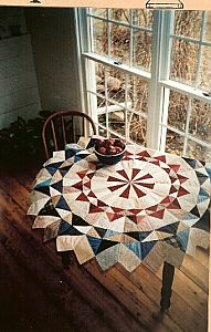 love the idea of using for table topperCircle of Geese Quilted Table Topper and Tree Skirt Pattern