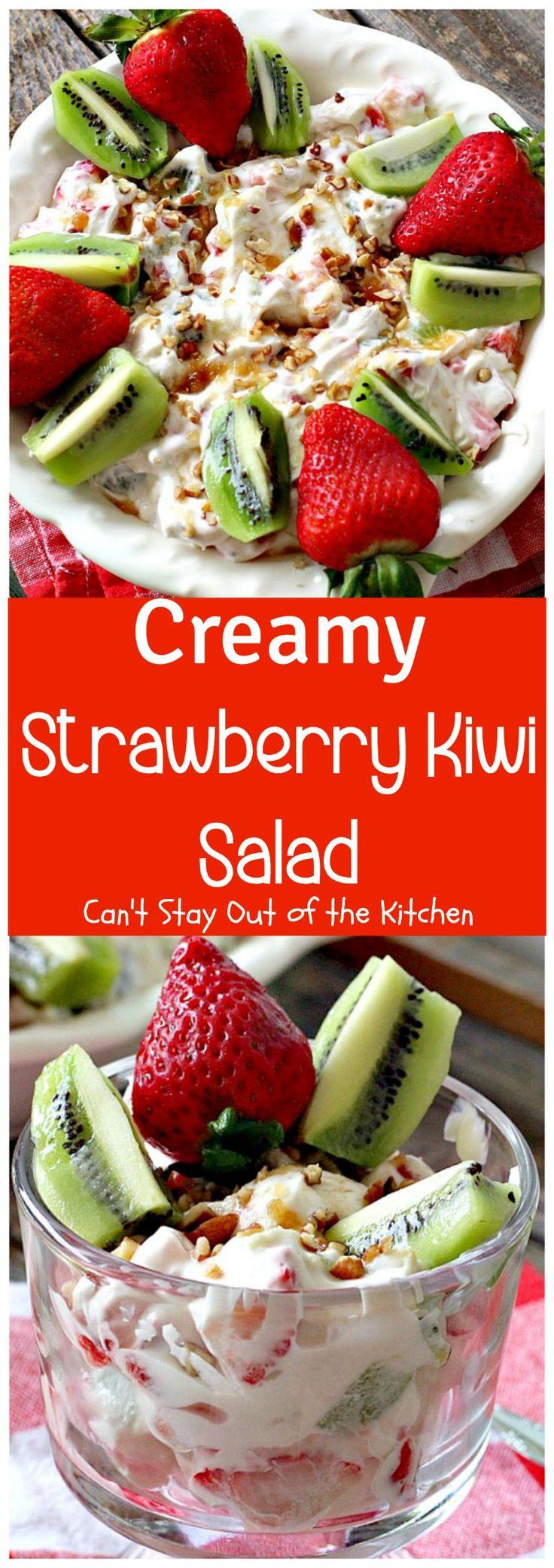 Creamy Strawberry Kiwi Salad