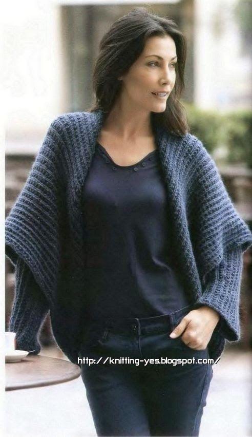 Модели вязания: Кардиганы Пальто Пончо