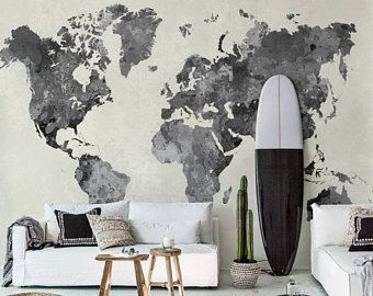 Vintage world map removable wallpaper pale wall mural peel and vintage world map removable wallpaper pale wall mural peel and stick wallmural old gumiabroncs Choice Image