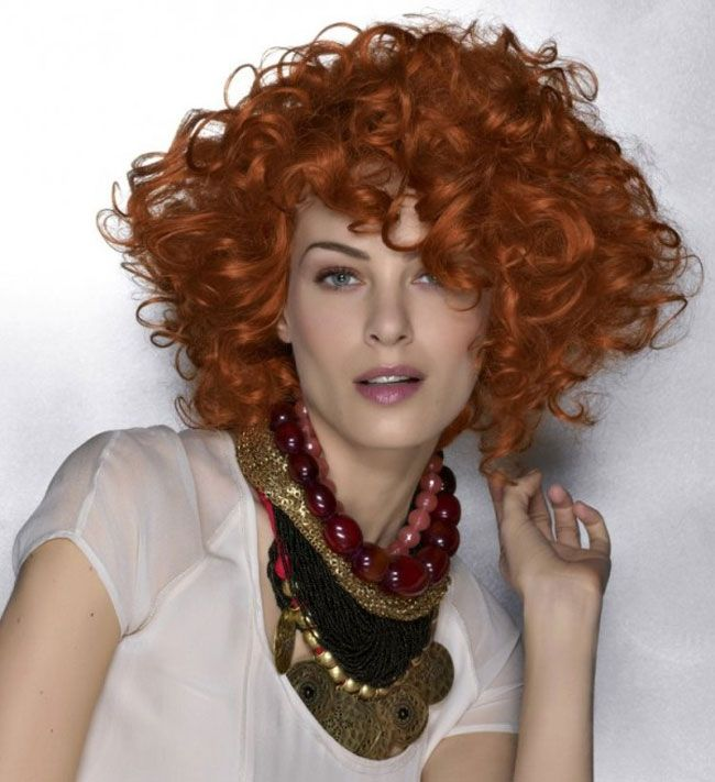 Voluminous Short Curly Hair In 2020 Short Red Hair Red Curly Hair Red Hair Cosplay