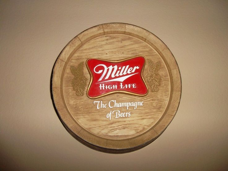Miller High Life The Champagne of Beers Barrel Sign Nice | eBay