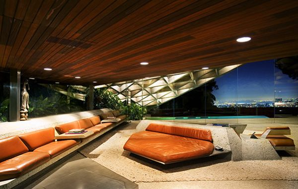 Sheats-Goldstein House by John Lautner (The Sheats house was used in the Coen Brothers film The Big Lebowski.)