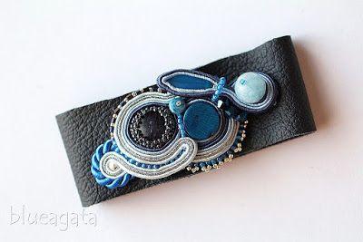 blueagata: Winter Sky - soutache bracelet