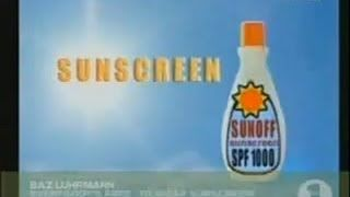 Baz Luhrmann's Everybody's Free To Wear Sunscreen - YouTube (song/essay)