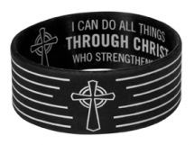 * WRISTBANDS: I CAN DO ALL THINGS * Size: 63 x 25 mm. @ R25-00 Each!