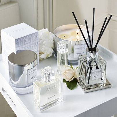 The White Company US. Symons St. 3 Wick Candle | Iconic, inviting and inspired by our stunning signature store in London, this cosy, clean scent captures the essence of luxurious living. Enveloping sumptuous cashmere and smooth white amber with crisp, cotton cedarwood and delicate peony. Pinning from the UK? http://www.thewhitecompany.com/candles-and-fragrance/shop-by-fragrance/symons-collection/