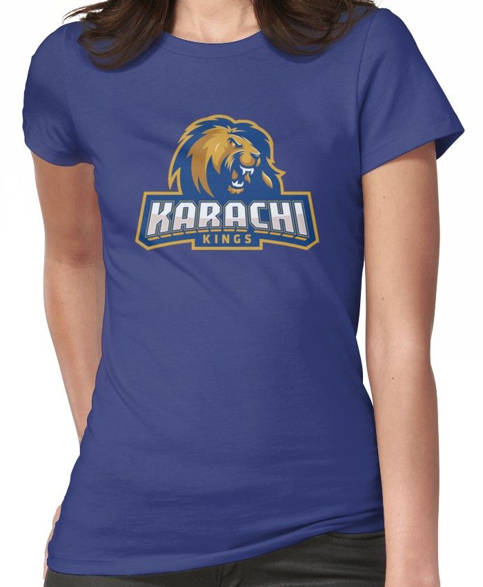 Karachi Kings Cricket Logo Fitted T Shirt By Fizana Cricket Logo Cricket Karachi