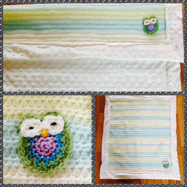 Neutral hand crocheted baby blanket