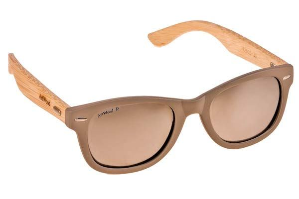 Γυαλια Ηλιου  Artwood Milano Bambooline 1 MP200 Grey  - Silver Mirror Polarized - bamboo Τιμή: 100,00 € #eyeshopgr #artwoodmilano