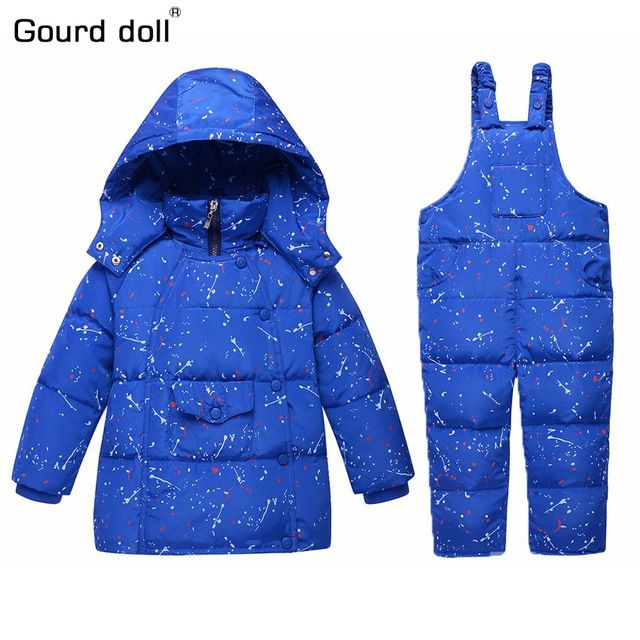 Special price Children's Girls Boys 90% Warm Duck Down clothing set kids winter jacket overalls for girl down & parkas Suitable 2-4 years just only $30.41 - 32.05 with free shipping worldwide  #boysclothing Plese click on picture to see our special price for you