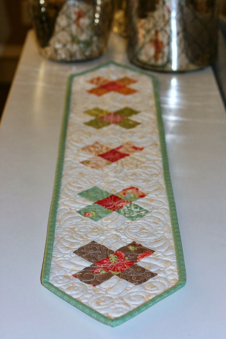 A Narrow Table Runner By: A Little Bit Biased: Honeysweet Itty Bitty Table  Runner