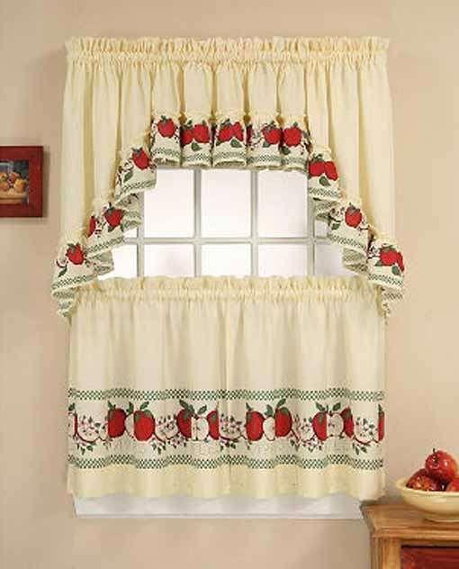 Wonderful Apple Kitchen #Curtain