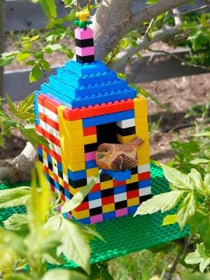 This weeks challenge is to design a bird house. Spring is in full force and the birds are hard at work building their nests and making homes for their families. You can create a bird house that you have seen before and are inspired by, or you can invent your own. How about constructing a bird house that you would want to live in if you were a bird!